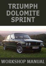 Triumph Dolomite Sprint Workshop Repair Manual